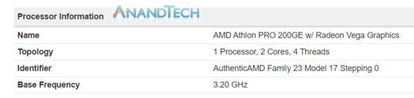 AMD Athlon 200GE и Athlon Pro 200GE