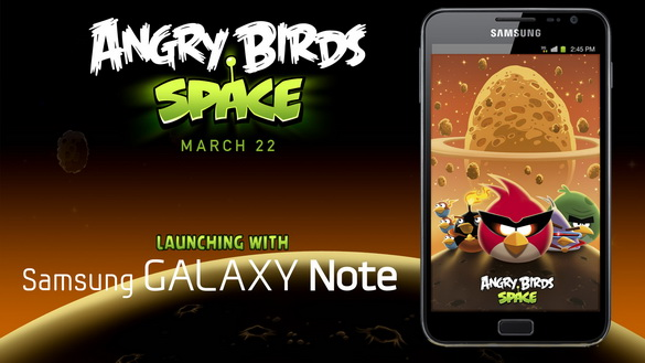 Angry Birds Space на устройстве Samsung GALAXY Note