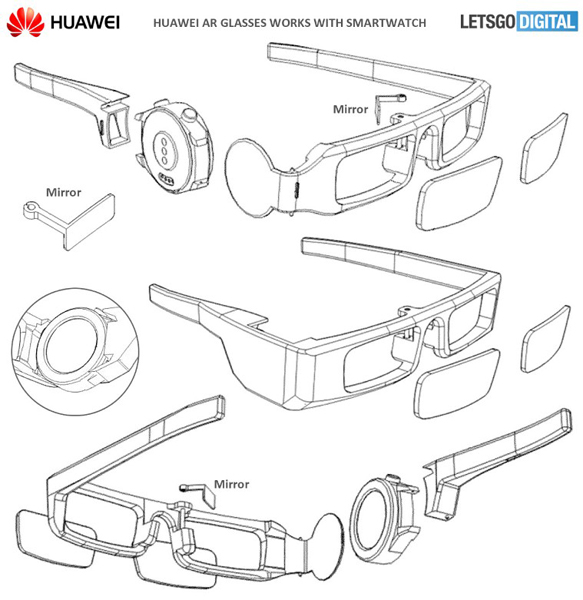 Huawei AR-glasses patent 1