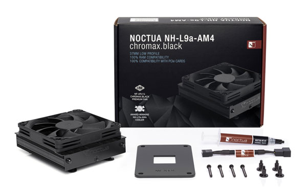 Noctua представила процессорный кулер NH-L9a-AM4 chromax.black